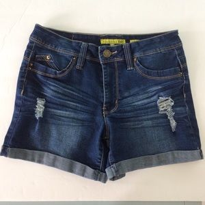 YMI  Want A Better Butt?  Distressed Jean Shorts 5